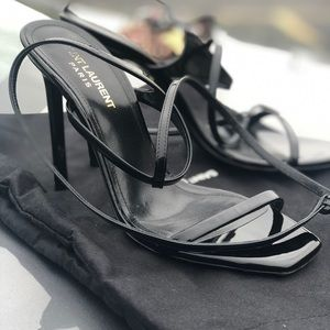Saint Laurent Black strappy heels